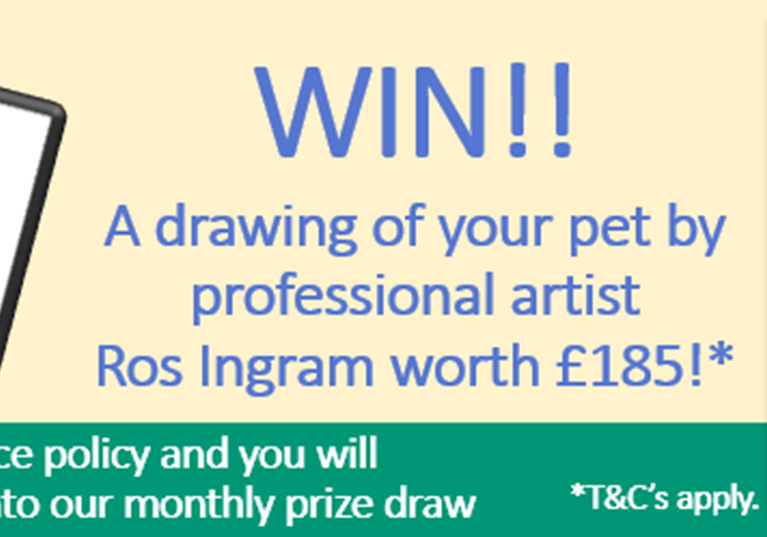WIN a drawing of your pet by professional artist Ros Ingram worth £185!*