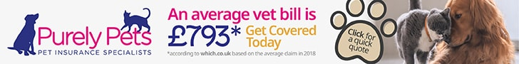 Average Vet Bill Is £793 Purely Pets Banner